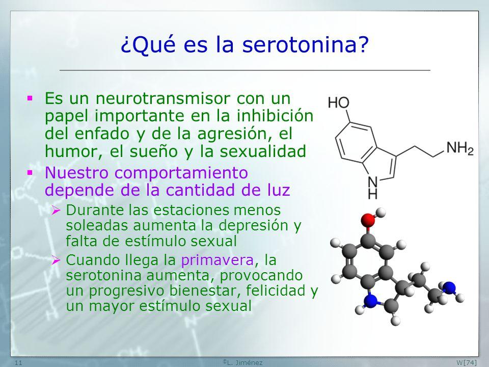 W [74] ©L. Jiménez. ¿Qué es la serotonina